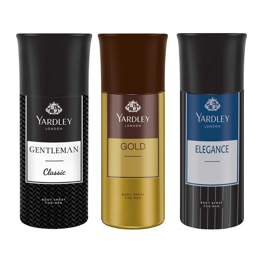 Yardley London Gentleman, Gold And Elegance Pack Of 3 Deodorants
