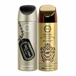 Armaf Tag Him, Derby Club House Belmont Pack of 2 Deodorants