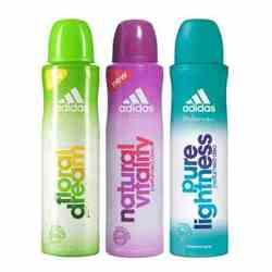 Adidas Floral Dream Natural Vitality Pure Lightness Pack of 3 Deodorants