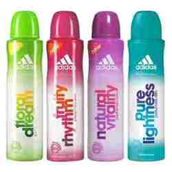 Adidas Fruity Rhytm Natural Vitality Pure Lightness Floral Dream Pack of 4 Deodorants