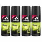 Adidas Value Pack Of 4 Pure Game Deodorants