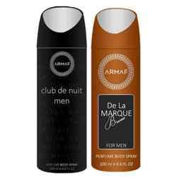 Armaf Club De Nuit And De La Marque Brune Pack Of 2 Deodorants