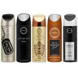 Armaf Derby Belmont, Opus, De La Marque Brune, Club De Nuit And Tag Him Pack Of 5 Deodorants
