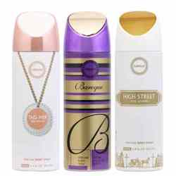 Armaf High Street, Baroque And Tag Her Pack Of 3 Deodorants