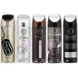 Armaf Paraty, Shades, Idiva, Tag Him And Warrior Pack Of 5 Deodorants