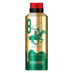 Beverly Hills Polo Club Highlander No 8 Gold Edition Deodorant