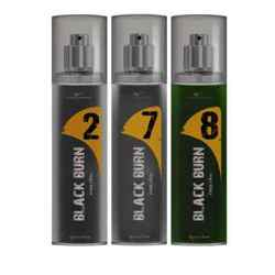 Black Burn 2,7,8 Set of 3 Alcohol Free Deodorants