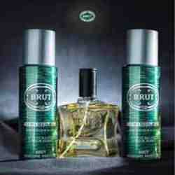 Brut Green Original Perfume And 2 Deodorants Combo