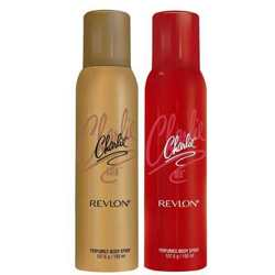 Revlon Charlie Gold And Red Set of 2 Deodorants