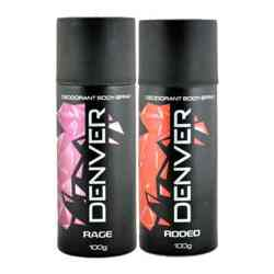 Denver Rage, Rodeo Pack of 2 Deodorants