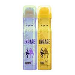 Engage Tease, Drizzle Pack of 2 Deodorants