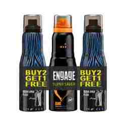 Engage 2 XX3 Cologne Spray And Awe Deodorant - Buy 2 Get 1 Free