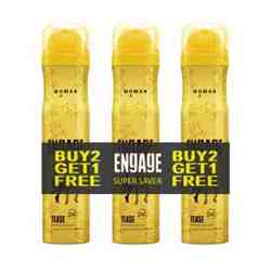 Engage Tease Buy 2 Get 1 Free Pack Of 3 Deodorants