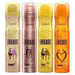 Engage Pack Of 4 Deodorants - Tempt OWhiff  Tease Abandon