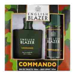 English Blazer Commando Perfume And Deodorant Giftset