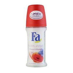 Fa Floral Protect Poppy and Bluebell Anti-Perspirant Deodorant Roll On