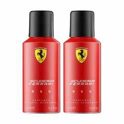 Scuderia Ferrari Red Pack of 2 Deodorants