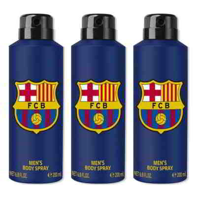 Football Club Barcelona Original Pack Of 3 Deodorants