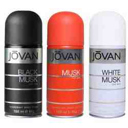 Jovan Black Musk, Musk, White Musk Pack of 3 Deodorants