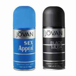 Jovan Black Musk, Sex Appeal Pack of 2 Deodorants