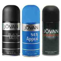 Jovan Black Musk, Satisfaction, Sex Appeal Pack of 3 Deodorants