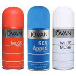 Jovan Musk, Sex Appeal, White Musk Pack of 3 Deodorants
