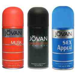 Jovan Musk, Satisfaction, Sex Appeal Pack of 3 Deodorants