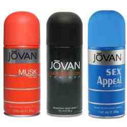 Jovan Musk, Satisfaction, Sex Appeal Pack of 3 Deodorants