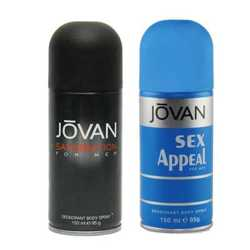 Jovan Satisfaction, Sex Appeal Pack of 2 Deodorants
