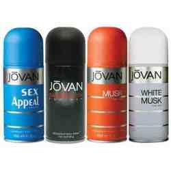 Jovan Musk, White Musk, Satisfaction, Sex Appeal Pack of 4 Deodorants For Men