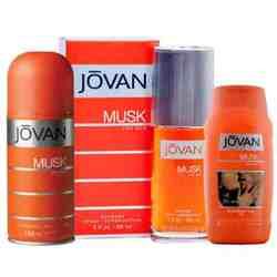Jovan Musk Original Perfume, Deo and Talc Combo