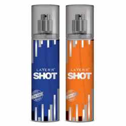 Layer'r Shot Deep Desire, Smokin Hot Pack of 2 Deodorants