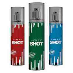 Layer'r Shot Red Stallion, Royal Jade And Blue Blaze Pack of 3 Deodorants