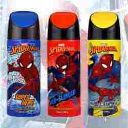 Marvel Spiderman Super Hero, Wall Crawler And Web Slinger Pack Of 3 Deodorants