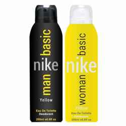 NIKE Basic Yellow Combo Of 2 Deodorants