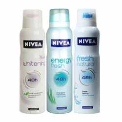 Nivea Whitening Fruity Touch, Energy Fresh, Fresh Natural Pack of 3 Deodorants