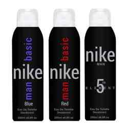 Nike 5th Element Basic Blue Basic Red Pack of 3 Deodorants