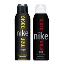 Nike Basic Red And Basic Yellow Pack of 2 Deodorants