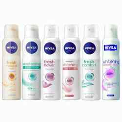 Nivea Fresh Natural Mist Fresh Comfort Whitening Sensitive Whitening Talc Touch Whitening Smooth Skin Fresh Flower Set o