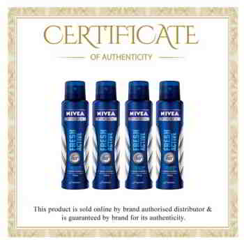Nivea Fresh Active Value Pack of 4 Deodorants