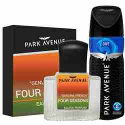 Park Avenue Combo of 4 Seasons Perfume, Dive Deodorant