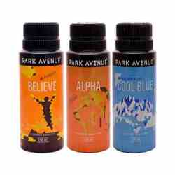 Park Avenue Believe, Zion, Cool Blue Pack of 3 Deodorants