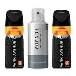 Park Avenue 1 Voyage And 2 Good Morning Pack Of 3 Strong Deodorants