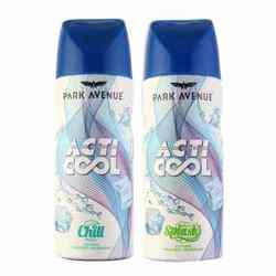 Park Avenue Acti Cool Chill And Splash Pack Of 2 Deodorant