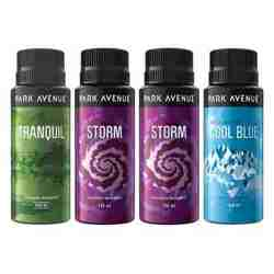 Park Avenue Value Pack of 4 Deodorants 2 Storm 1 Cool Blue 1 Tranquil