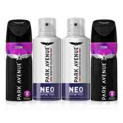 Park Avenue Neo And Storm Value Pack of 4 Deodorants
