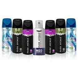 Park Avenue Value Pack of 7 Deodorants - 1 Neo, 2 Storm, 2 Hero , 2 Splash