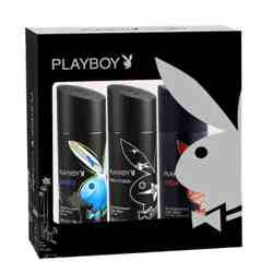 Playboy Gift Pack Of 3 Deodorants - Hollywood Malibu And Vegas