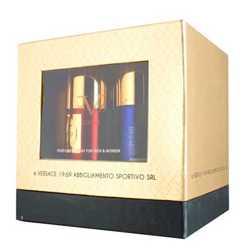 Versace 19.69 Italia Gift Pack Of 4 Deodorants - 1 La Exotique 1 La Paradis 1 Electrique 1 Vibrante