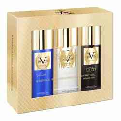 Versace 19.69 Italia Gift Pack Of 3 Deodorants - 1 Prive Oudh 1 Vibrante 1 Electrique